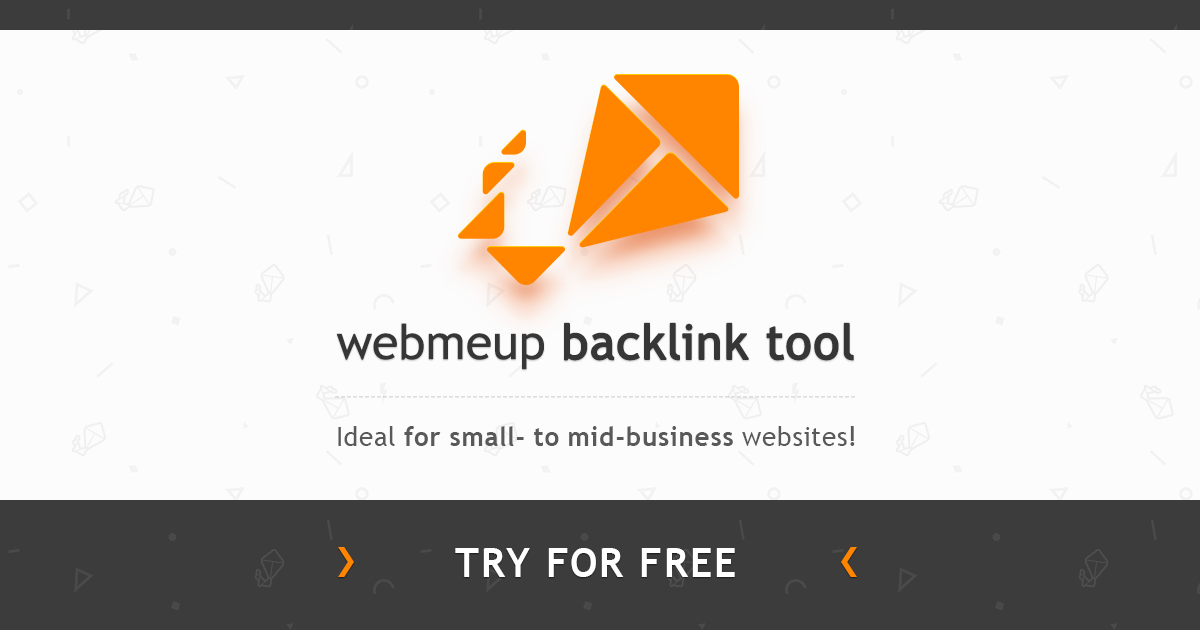 WebMeUp backlink tool - the most accurate link checker